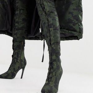 ASOS DESIGNxLaQuan Smith padded over the knee boot
